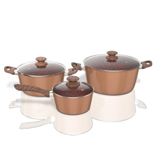 Copper and Rock Pot Set